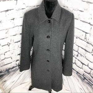 London Fog wool trench coat size 10